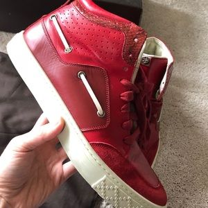 Men's Red Gucci high top